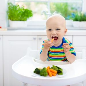 Baby led weaning with vegetables