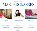 Our masterclasses offer support in specific areas